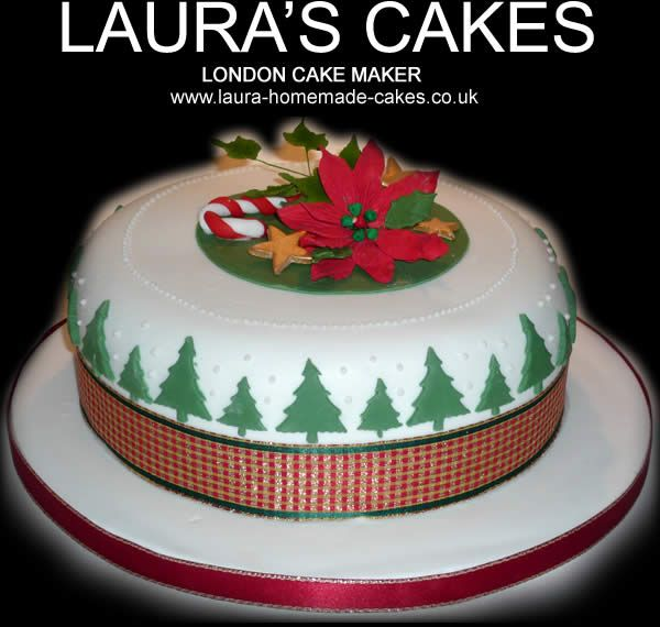 46 best Christmas cake designs images on Pinterest | Christmas ...