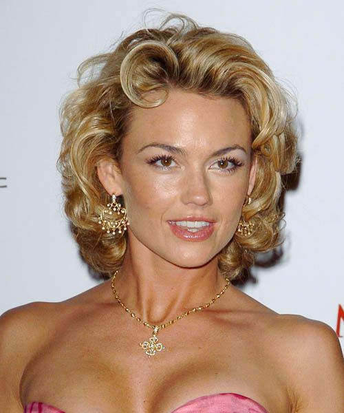 Kelly Carlson Hair Cut | Kelly Carlson Hairstyle - Formal Medium Curly - 3460 | TheHairStyler ...