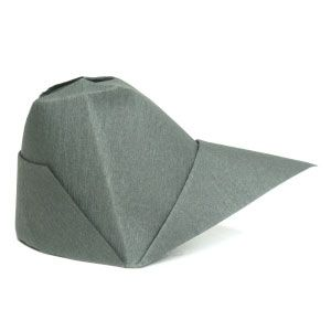 How to make a traditional origami cap: page 1