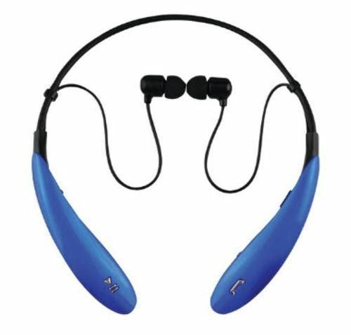 SuperSonic Blue Bluetooth Neckband Headphones Smartphone Mic Built-In Controls