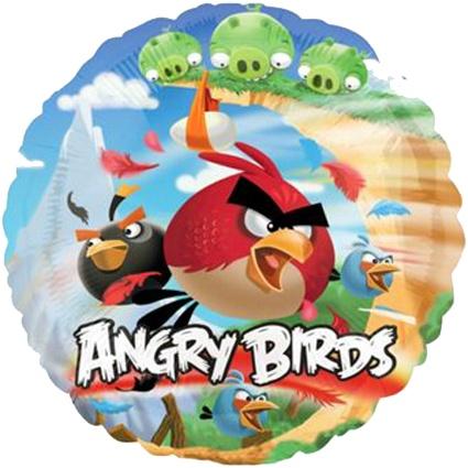 #globometalico #fiesta #AngryBirds #kitfiesta http://www.kitfiesta.com/fiestas-ninos/angry-birds/angry-birds-globo-metalico-familia