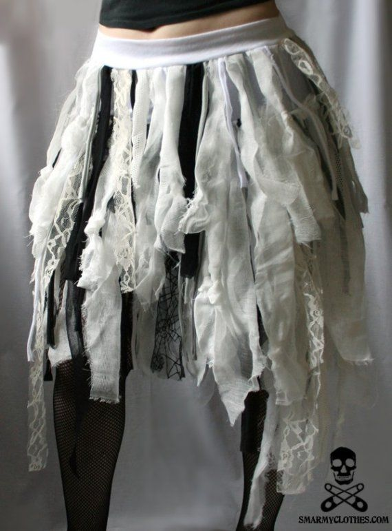 rag strips skirts | they call us walking corpses ZOMBIE MUMMY rag by smarmyclothes
