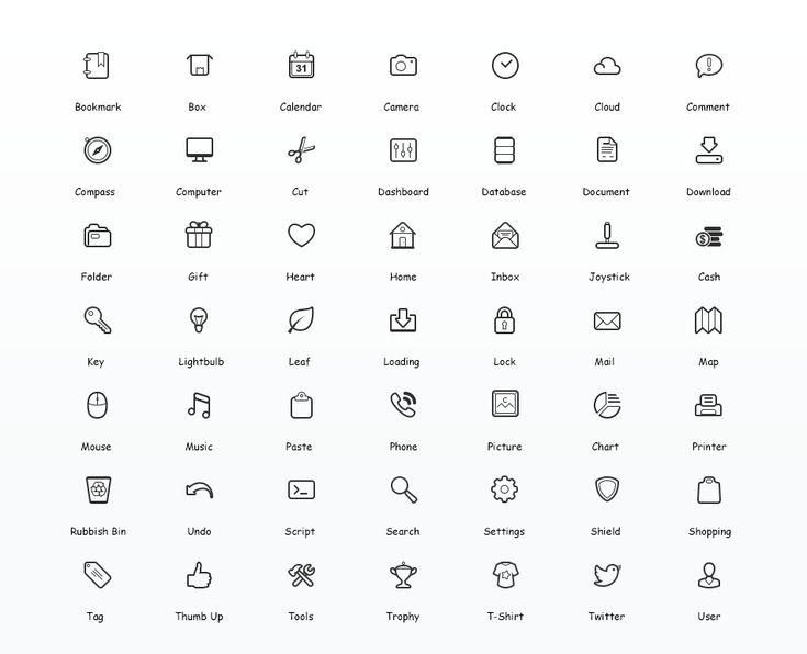 Simplicity Vector Icon Set