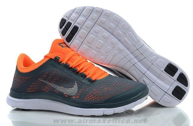Nike Free 3.0 V5 Dark Armory Blue White Total Orange Shoes 58039
