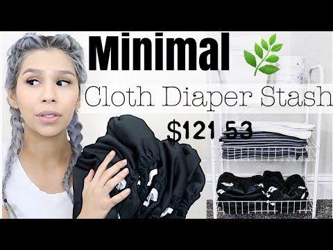 Beginner Minimal Cloth Diaper Stash 2018 YouTube Cloth