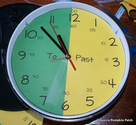 great way to teach the kids how to tell time