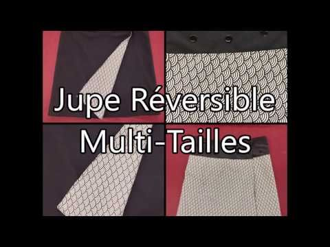 Jupe Réversible Multi Tailles - Tuto Couture - YouTube
