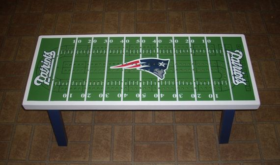 Cribbage Board Coffee Table PATRIOTS FOOTBALL by TheRightJack, $350.00