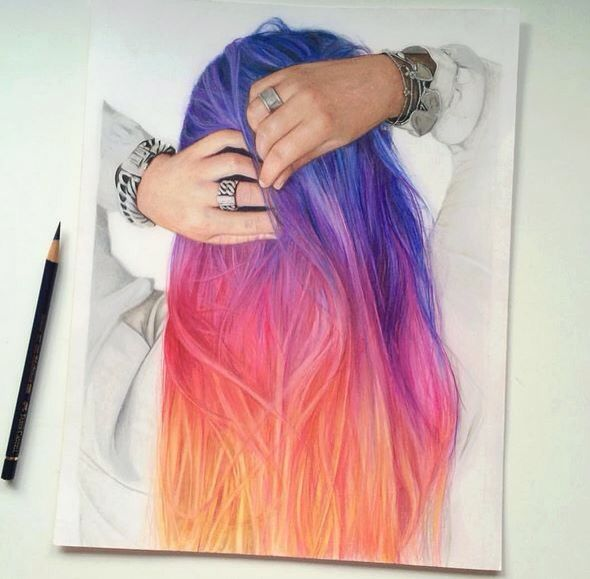 #Dessin #Hair #Colorful