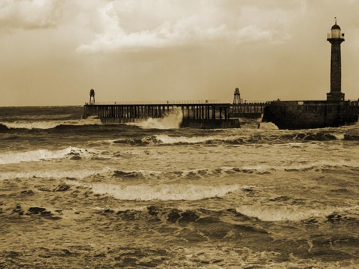 Rough seas in Whitby