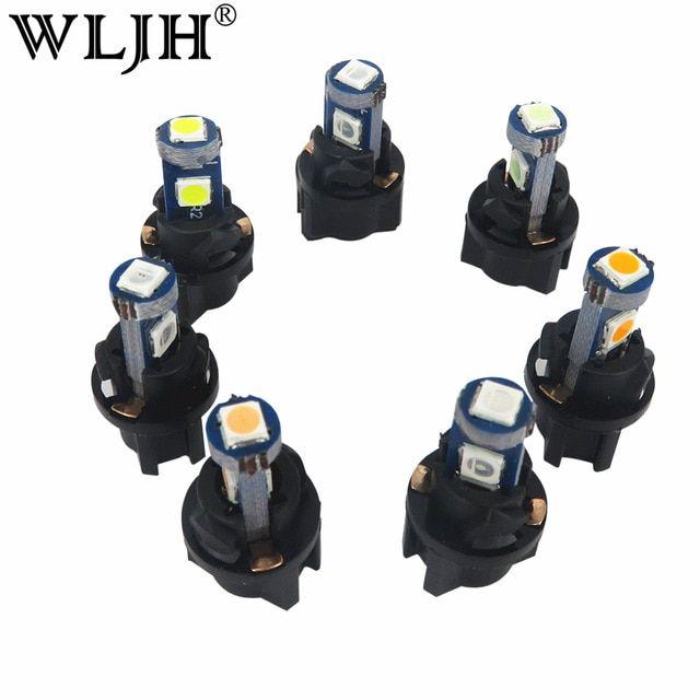 Wljh 10x Led Canbus Car T5 Led With Lamps Socket Car Twist Socket Dash Light Instrument Panel Cluster Holder Socket Led Bulb 1 Lamp Socket Dash Lights Led Bulb