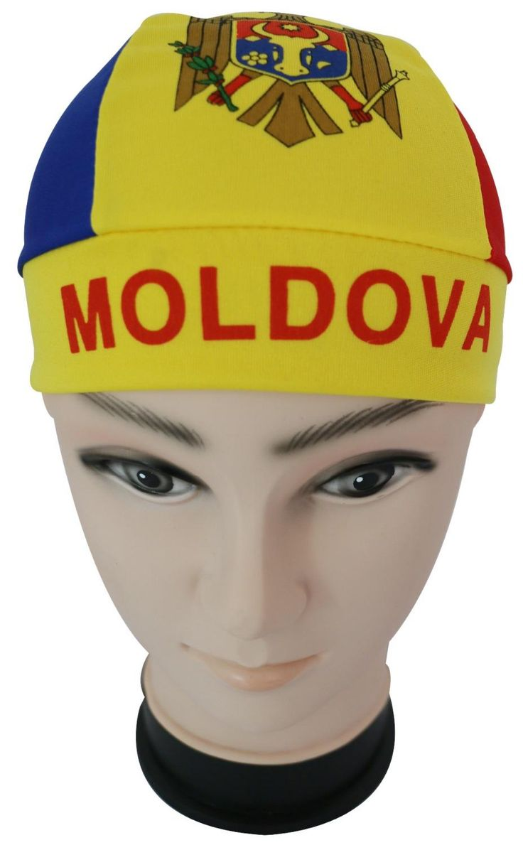 2017 New Fashion Summer Moldova Flag Print Head Wrap Durag Cap For Mens
