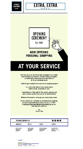 "SUB: ""We're at your service"" Opening Ceremony lancia il suo Personal Shopping Program un appuntamento da prenotare con un/una personal stylist a disposizione per ogni esigenza! Rich people only, by the way :("