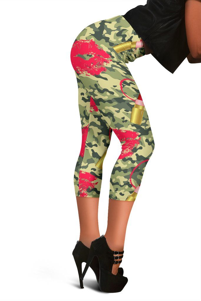 9aa39c7bbbb36 Women's Camo Leggings - Green/Red Camouflage Yoga Pants - Ladies Gym Pants  and Tights