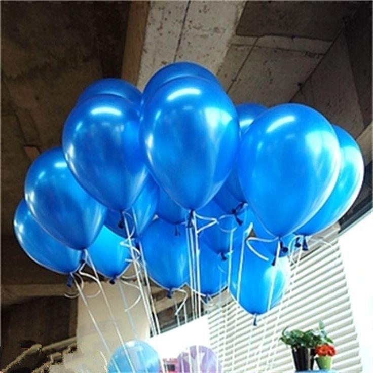 10 unids/lote azul de látex globo de cumpleaños de la boda de bolas de aire inflable kid flotador 10 pulgadas globos kids outdoor toys td0014be