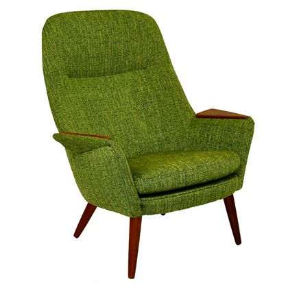 green danish modern high back armchair - design inspiration from #chinatownefurniture www.chinatowne.com