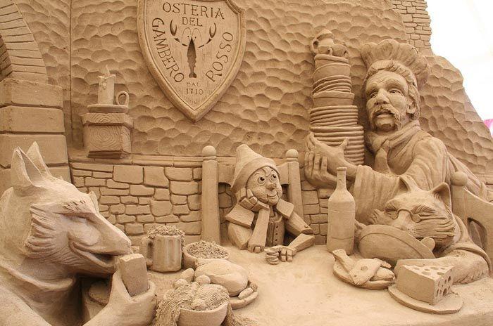 Jesolo sculture in sabbia