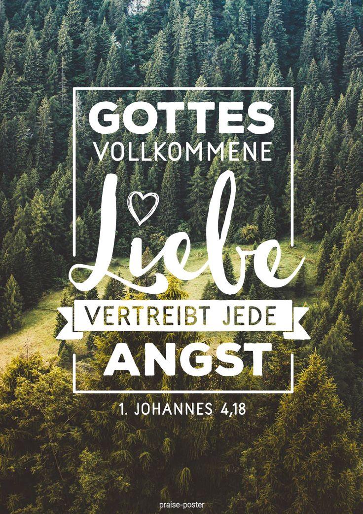 Gottes vollkommene Liebe vertreibt die Angst -  Praise Poster : Foto