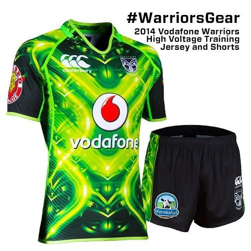 2014 Vodafone Warriors High Voltage Training Jersey #WarriorsGear #WarriorsForever #NRL #Jersey Go to www.warriorsstore.co.nz