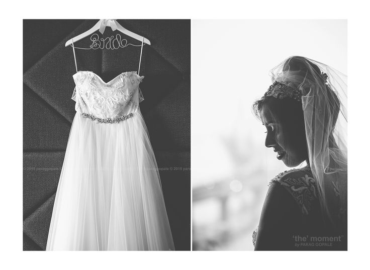 The magic wand of every white wedding is the 'bridal gown'. As I entered the suite to capture some 'getting ready' moments, this gown was there, ready, as if it's elegantly commanding to be clicked. And as Carolin adorned it with her charm and grace, the frame couldn't get more beautiful than this.