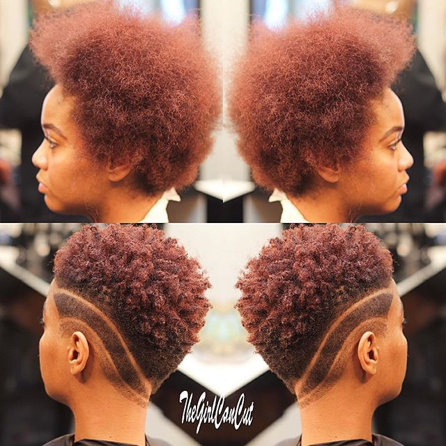 Short Natural Hair With Tapered Sides