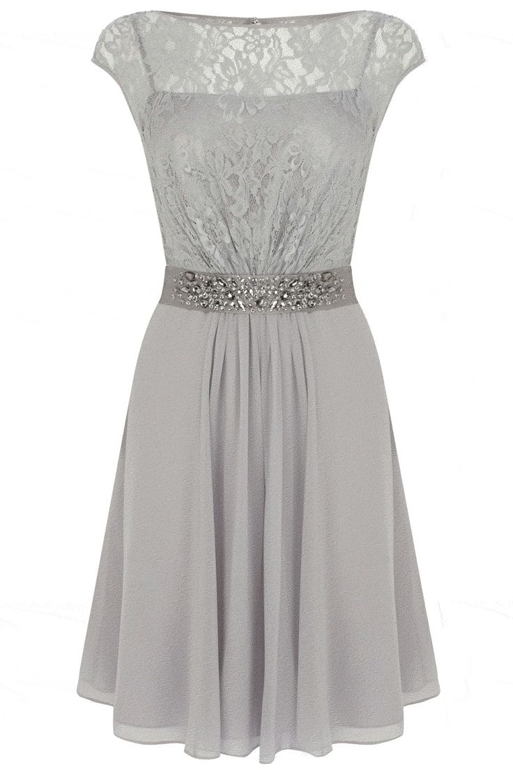 28 best images about spring dresses on pinterest pleated for Grey dress wedding guest