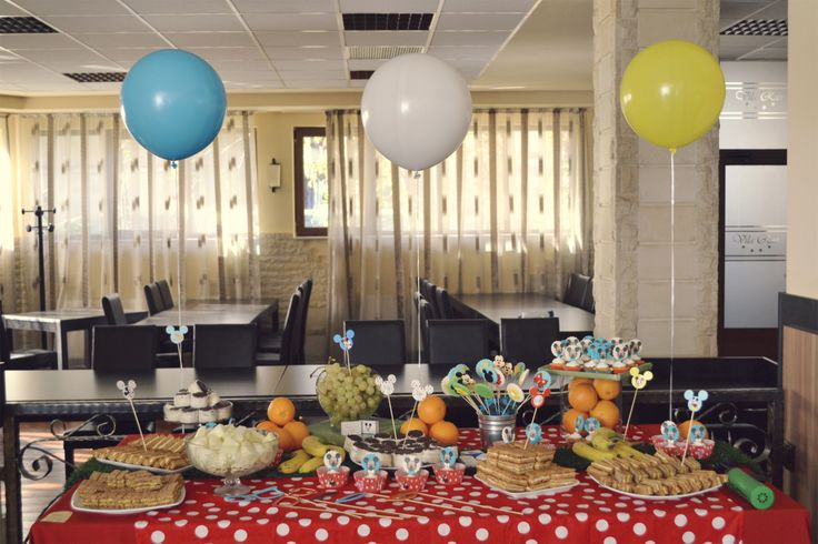 The candy bar we made at the MickeyMouse themed party.