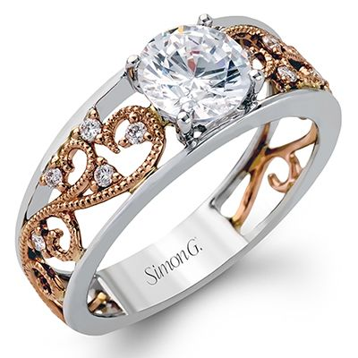 MR2115 18K White and Rose Gold from Simon G - Gold and Gems