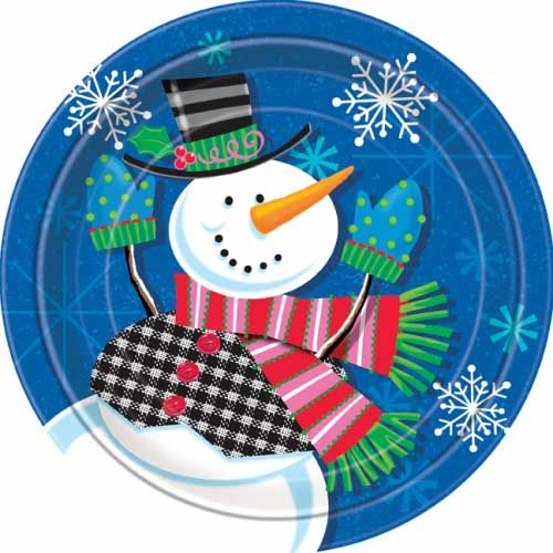 Jolly Snowman Christmas Paper Plates Pack of 8  sc 1 st  Pinterest & 21 best Christmas Party Plates images on Pinterest | Party plates ...
