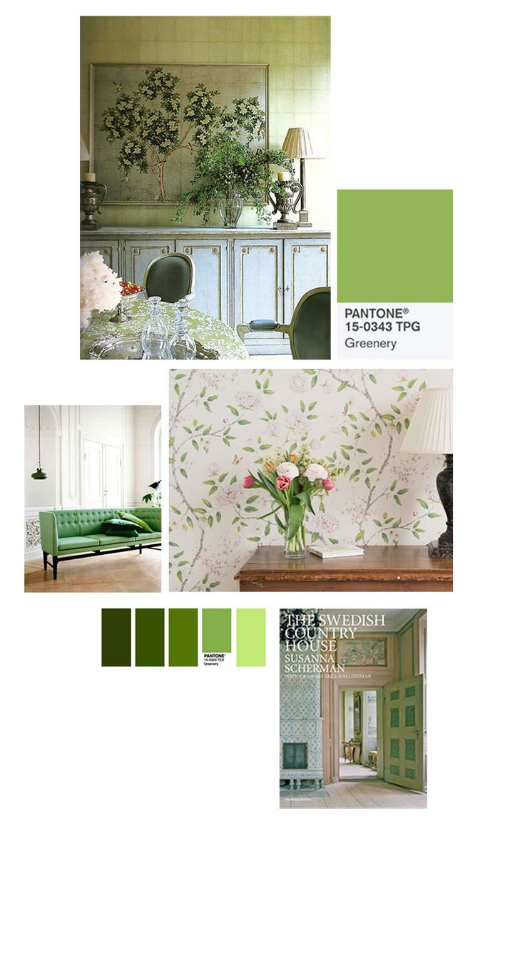 Hit refresh with Pantone greens and Gustavian style interiors