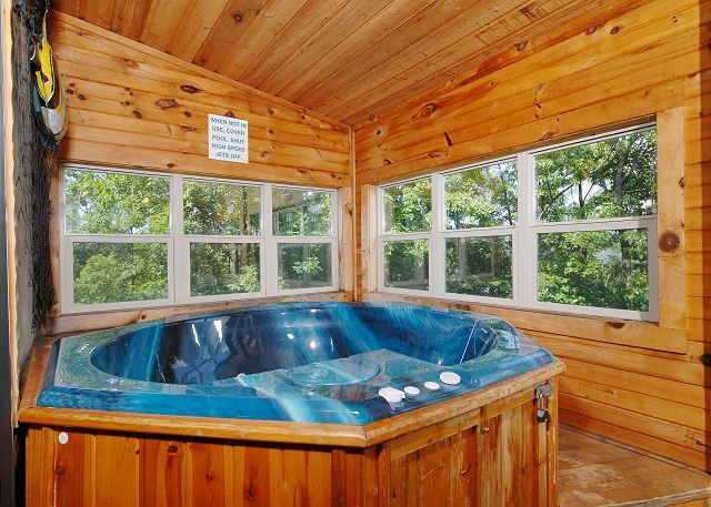 Top 5 Benefits Of Staying In Our Pigeon Forge Cabins With Game Rooms Indoor Hot Tub Cabin Hot Tub