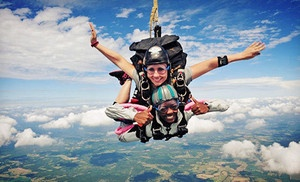 Have you ever jumped out of a plane?  I did - solo!     Groupon - $136 for a Tandem Skydive with Instructor from Skydive Carolina! (Up to $220 Value) in Chester. Groupon deal price: $136.00