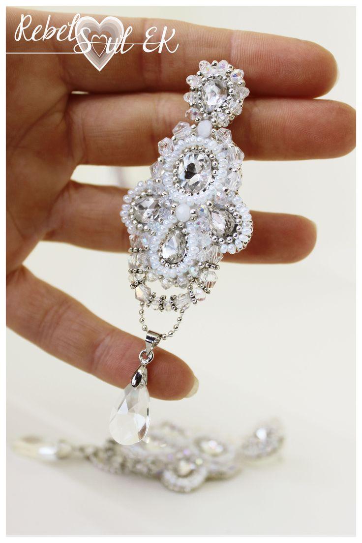 Earrings wedding jewelry for bride by RebelSoulEK