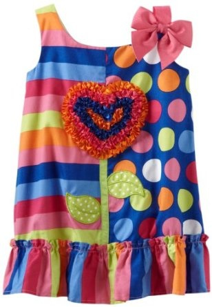 Pusat Baju Bayi Grosir - Youngland Bayi-Bayi perempuan Hati Bunga A-line Gaun   Pusat Baju Bayi Terbesar dan Terlengkap Se indonesia