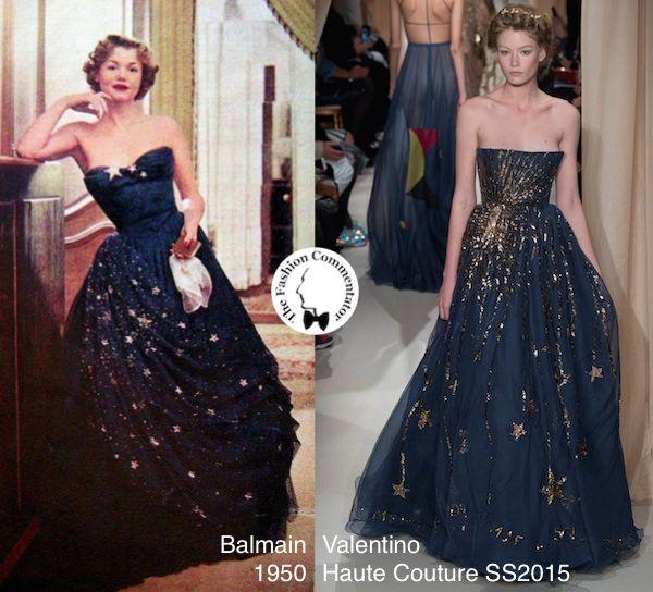 #FashionLoop 2 - Starry dresses - Balmain 1950 vs Valentino Couture SS2015