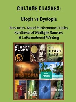 Cultural Clashes!  Utopia vs. Dystopia (Research & Informational Writing Project)
