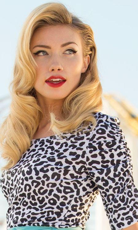 Shabby Apple: Vista top and lovely hair/makeup   Retro ...
