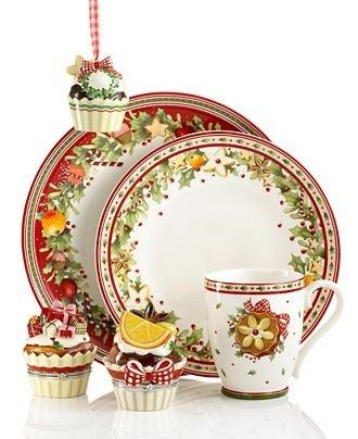 57 Beautiful Christmas Dinnerware Sets: Villeroy & Boch Dinnerware and Giftware, Winter Bakery Collection