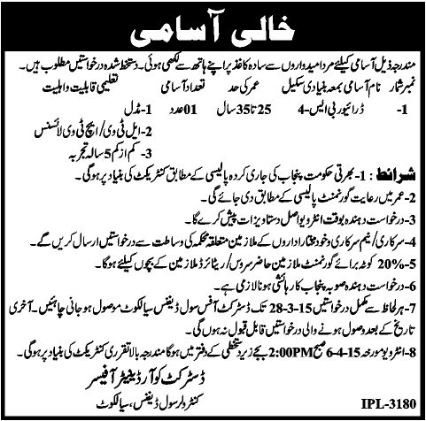 Controller Civil Defense Sialkot Jobs,All Newspaper Jobs Ads like Jang Newspaper Jobs Express Newspaper Jobs Nation Newspaper Jobs Nawaiwaqat Newspaper