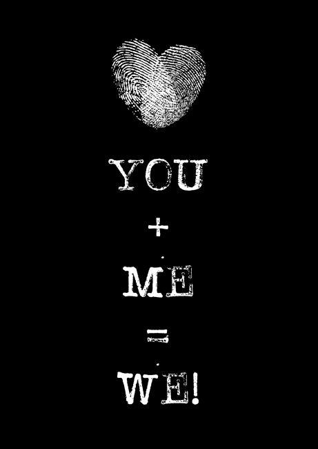 Kaartje You + Me = We! Ontwerp: byBean. Je shopt 'm hier: http://www.bybean.nl/kaartjeyouandmeiswe