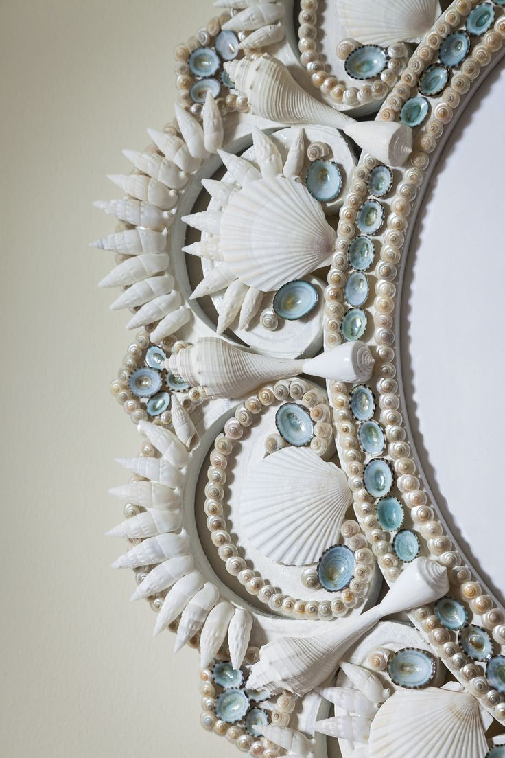 Ocean's Echo Seashell wreath