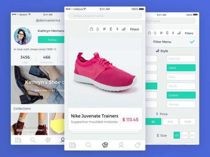 Dribbble - Shoeenvy E-Commerce by Alla