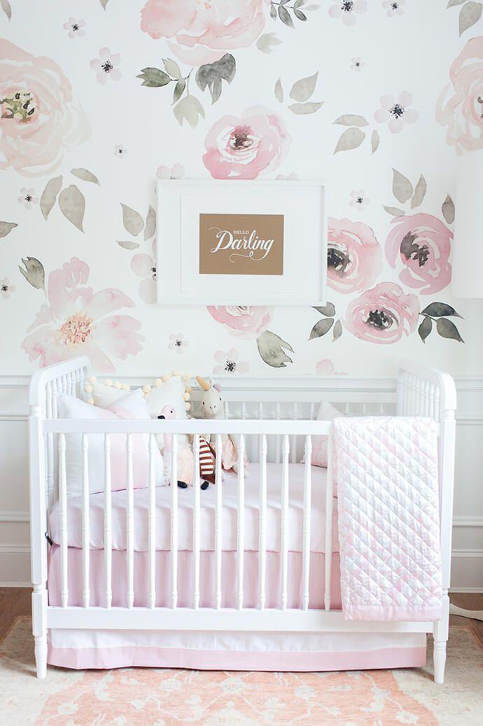 pink crib linens