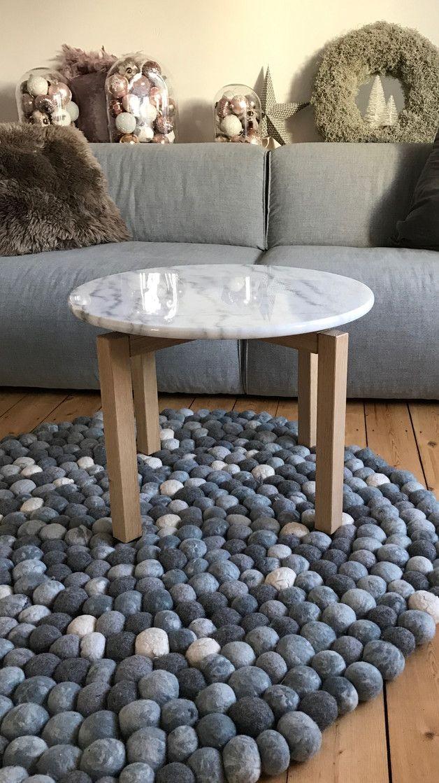 Beistelltisch Aus Eiche Und Marmor Platte Ist Kann Ganz Einfach Auf
