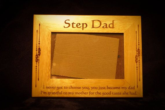 Hey, I found this really awesome Etsy listing at https://www.etsy.com/listing/169345633/step-dad-engraved-frame