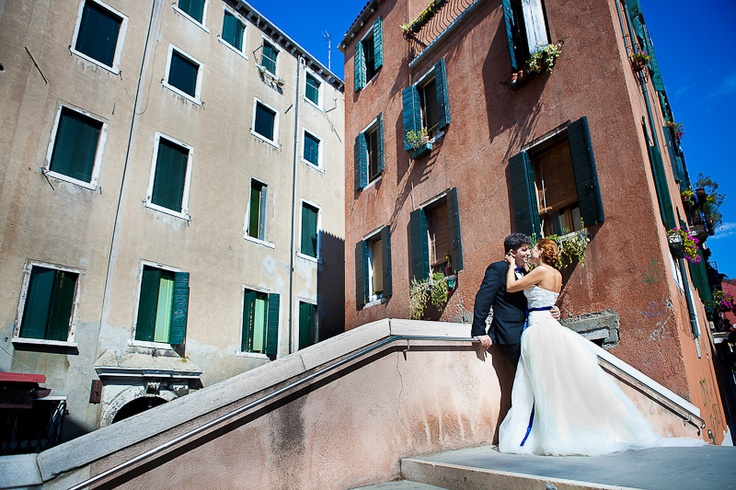 Trash the dress in #Venice #Europe #travel #traveling #love #wedding #photography