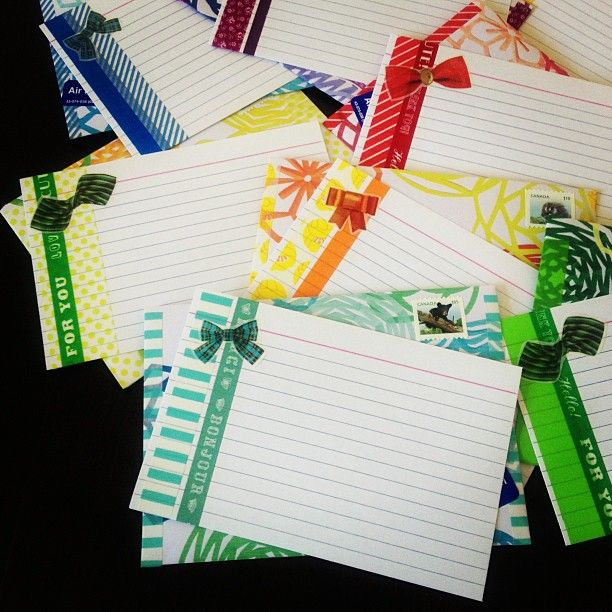 Washi tape + index cards Photo by omiyage_ca