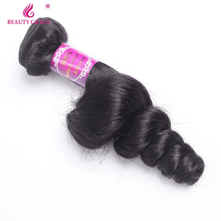 Brazilian Loose Wave Virgin Hair 1 Pc Brazilian Hair Weave Bundles Human Brazilian Virgin Hair Loose Wave Beauty Grace Hair