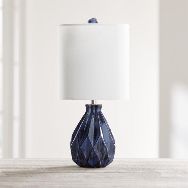 Origami Blue Ceramic Table Lamp Reviews Crate And Barrel In 2021 Ceramic Table Lamps Ceramic Table Table Lamp