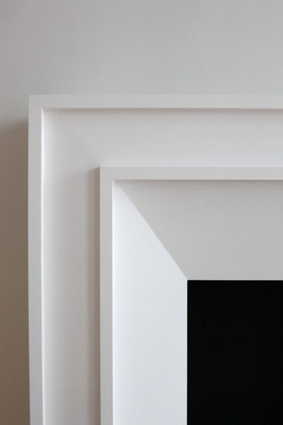 25 best ideas about modern fireplace mantles on pinterest - Contemporary trim moulding ...